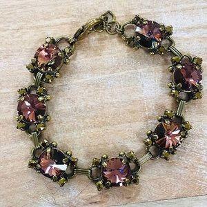 Sorrelli Stunning Mahogany Crystal Bracelet, NWT